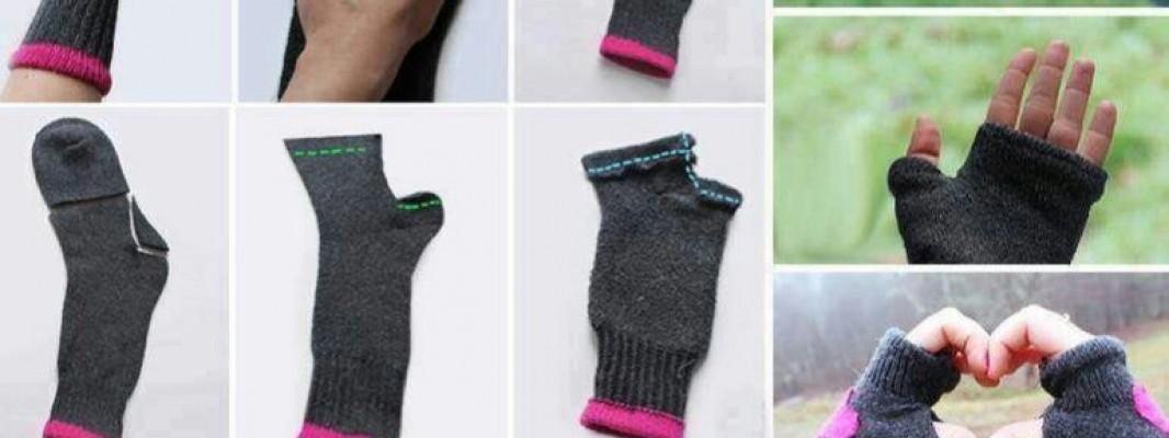 Tutorial – Fazendo luvas com meias