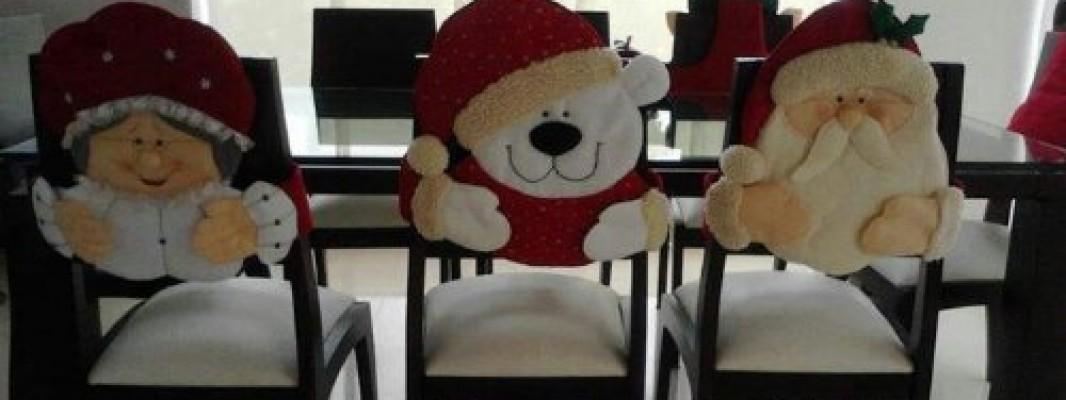 Inspiração – Encosto de cadeira para o Natal