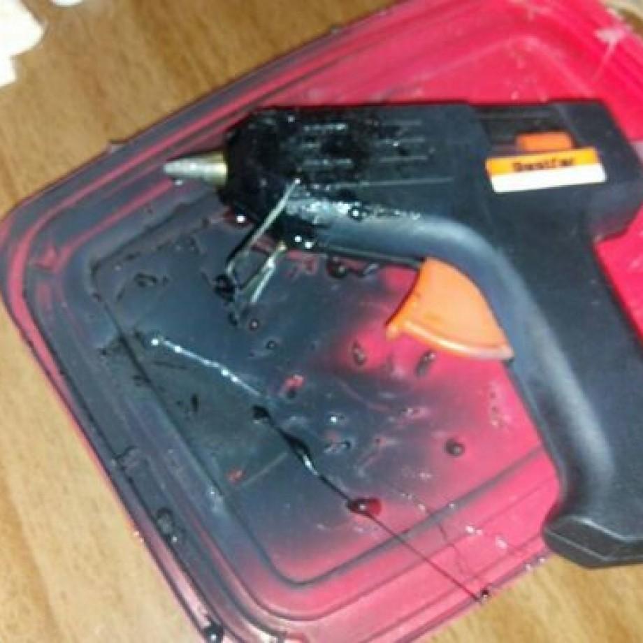 Cuidado com pistola de cola quente
