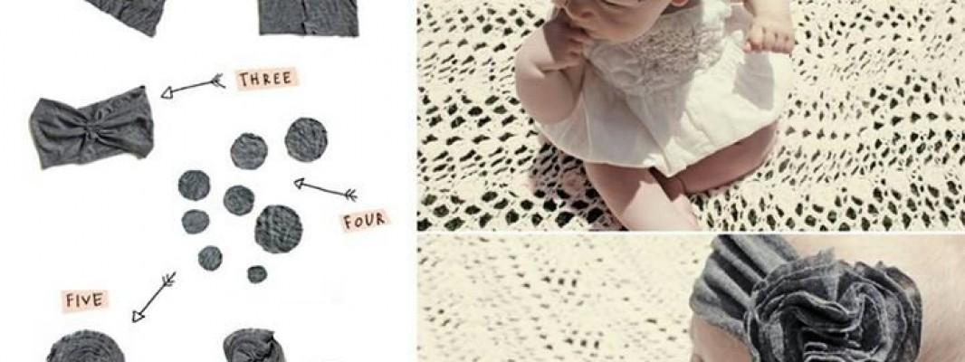 Tutorial – Faixa de cabelo para bebê