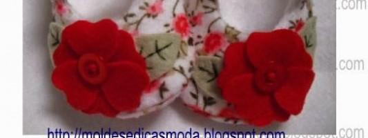 Tutoriais e moldes – Sapatinhos de bebê [parte 3]
