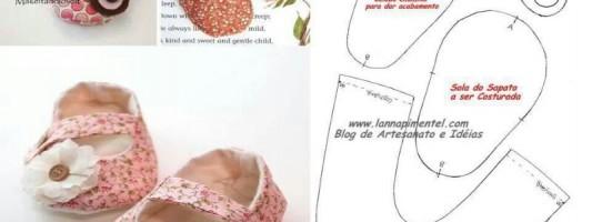 Tutoriais e moldes – Sapatinhos de bebê [parte 1]