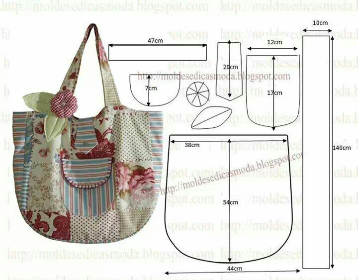 Bolsa Em Feltro Molde : Eu amo costurar molde bolsa rom?ntica