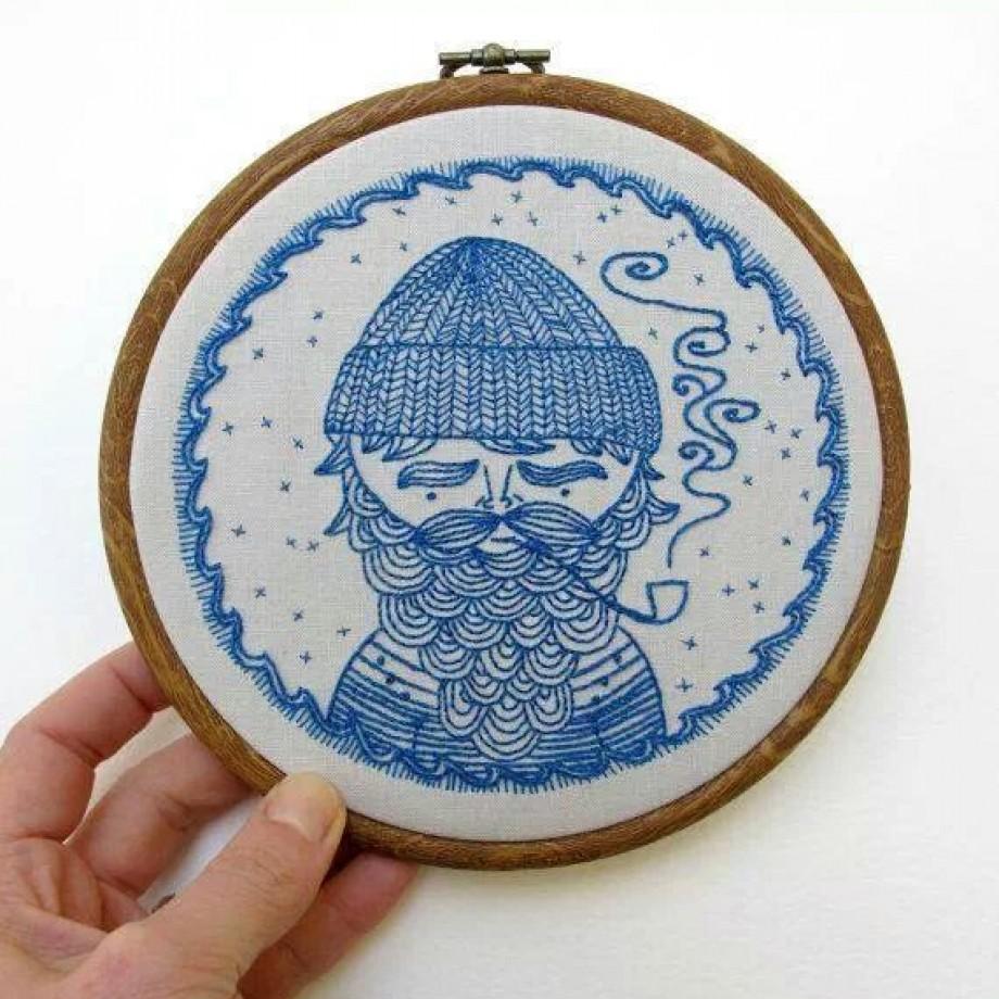 Uma obra de arte de bordado