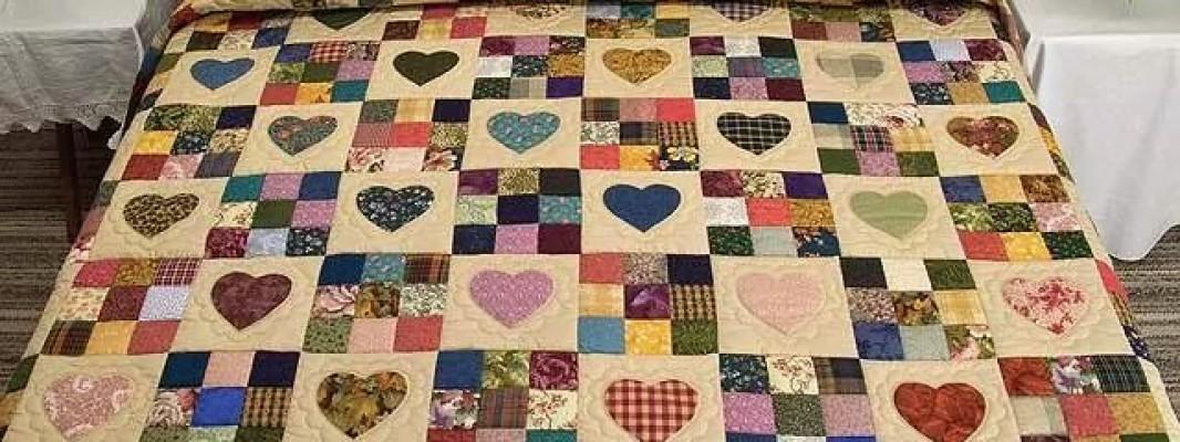 Inspiração – Colcha de quilt com patch aplique
