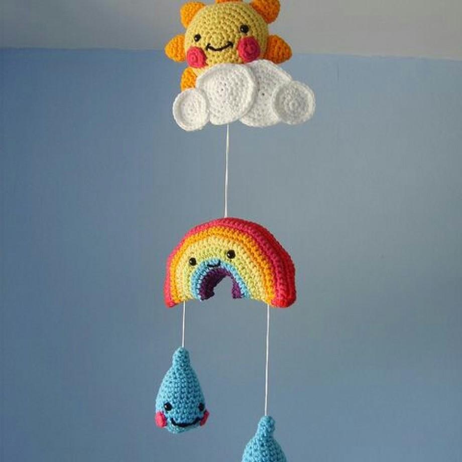 Inspiração – Móbile de crochê