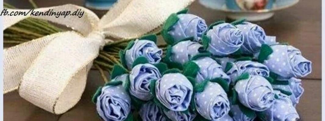 Tutorial – Buquê de flores em tecido