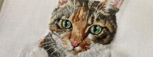 Inspiração – Bordado de gatos