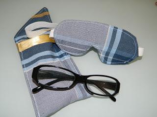Porta óculos e máscara para dormir