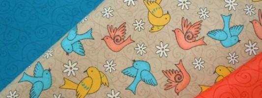 Inspiração – Tecido de passarinho da Vita Colorita