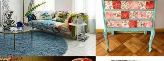 Inspiração – Móveis com patchwork