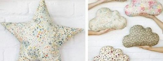 Inspiração – Almofadas de estrela e nuvem