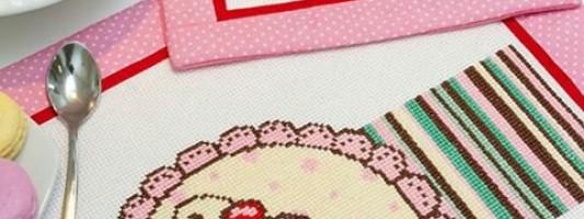 Inspiração – Jogo americano de cupcake bordado