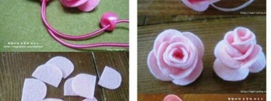 Tutorial – Mini rosas em feltro
