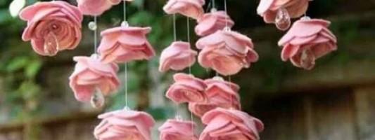 Inspiração – Móbile de mini rosas