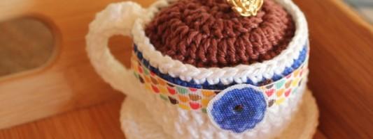 Inspiração – Xícara de crochê