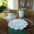 Inspiração – Tapetinho de mesa de crochê