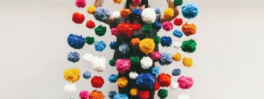 Tutorial – Cortina de pom pons