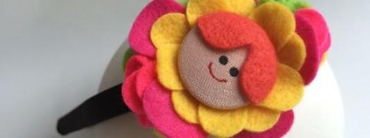 Inspiração – Tiara menina flor